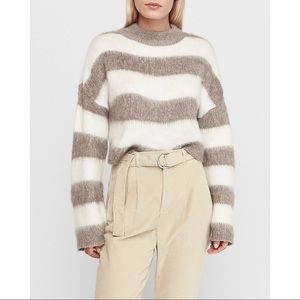 NEW Express Brushed Mock Neck Cropped Sweater